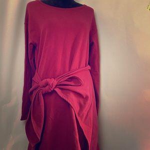 DONNA KARAN INTIMATES RED TIE DRESS